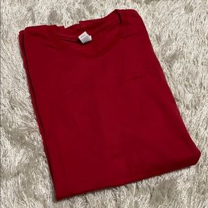 Tultex Shirts - Tultex Fine Jersey Men's Dark Red Basic T-Shirt
